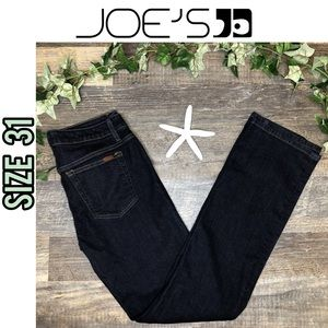 Joe's dark wash boot cut blue jeans